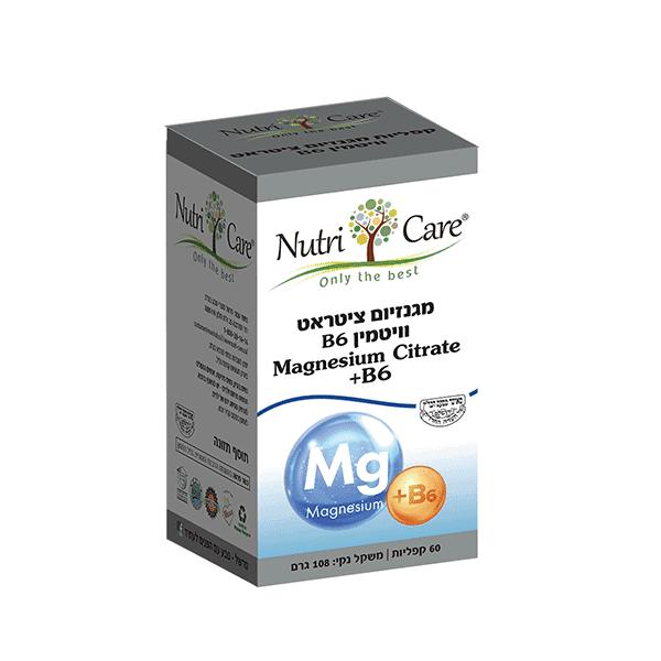 מגנזיום ציטראט וויטמין B6 – נוטריקר
