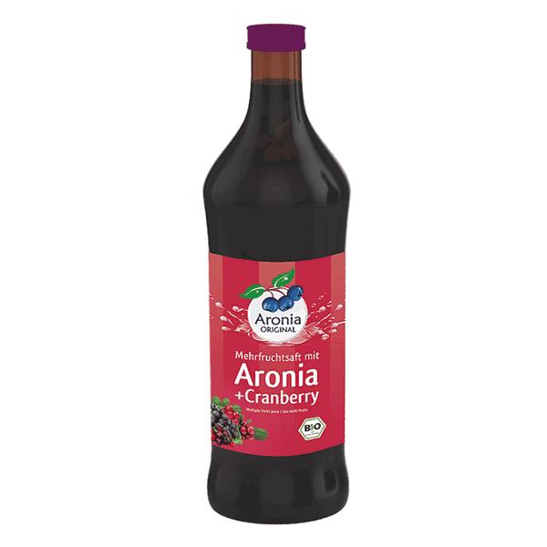 """משקה ארוניה + 31% חמוציות טבעי/אורגני 700 מ""""ל – עולם של טבע"""