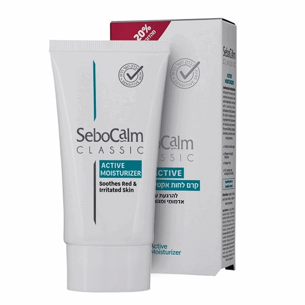 קרם לחות אקטיב להרגעת העור עם תוספת 20% מתנה – סבוקלם Sebocalm