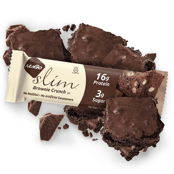 חטיף עשיר בחלבון בטעם בראוניז מצופה שוקולד מריר - SLIM- נוגו