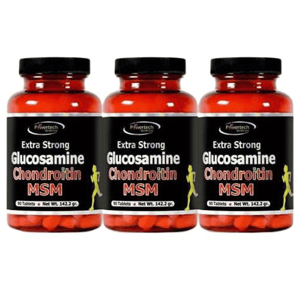 גלוקוזמין כונדרואיטין א.אס.אמ (מארז שלישייה 270 טבליות) – פאוורטק