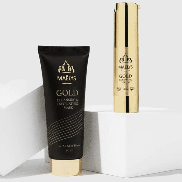 GLAMOUR מסכה וסרום זהב 24 קראט – מאליס
