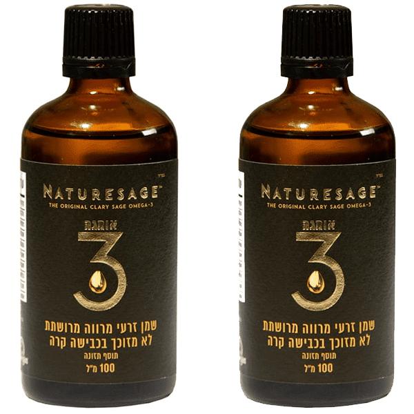 שמן זרעי מרווה מרושתת אומגה 3 (100 מל) נוזלית – נייטשרסייג NATURESAGE זוג